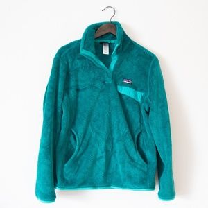 Patagonia Women's Re-Tool Snap T Pullover Teal